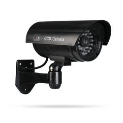 Venkovní atrapa bezpečnostní kamery Dummy3 s blikající LED černá