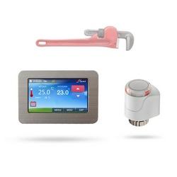 Designový autonomní regulační systém Flame TS s dotykovým displejem